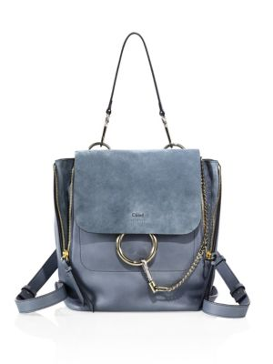Medium Faye Leather & Suede Backpack