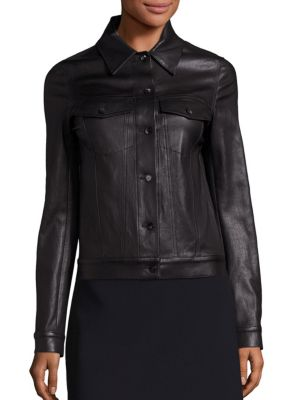 The Row Leathers Coltra Leather Jacket