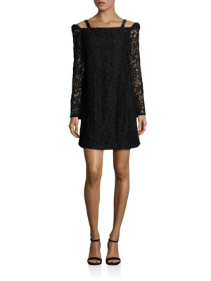 See By Chloé Cottons Lace Cold-Shoulder Dress