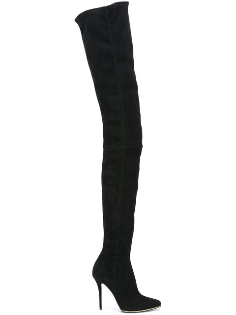 Balmain Suedes over-the-knee boots