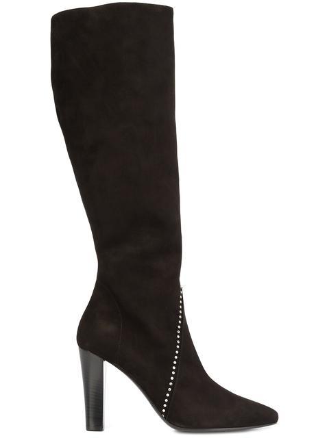 Saint Laurent Suedes 'Lily 95' studded boots