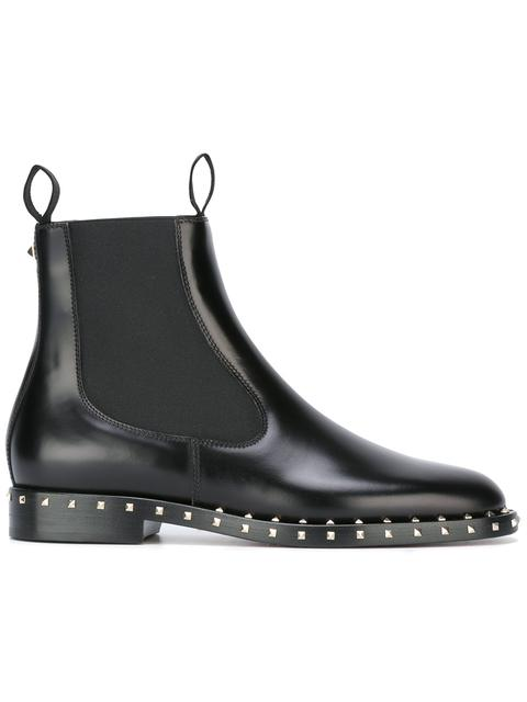 20MM SOUL ROCKSTUD LEATHER ANKLE BOOTS