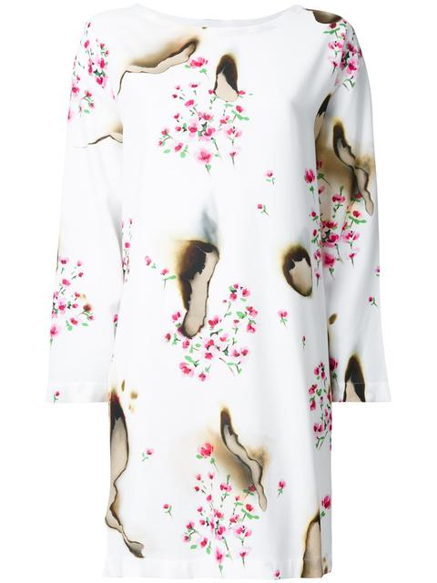 Moschino Cottons BURNED EFFECT FLORAL DRESS