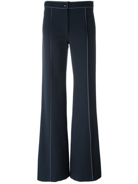High Density Wool Gabardine Flared Pants