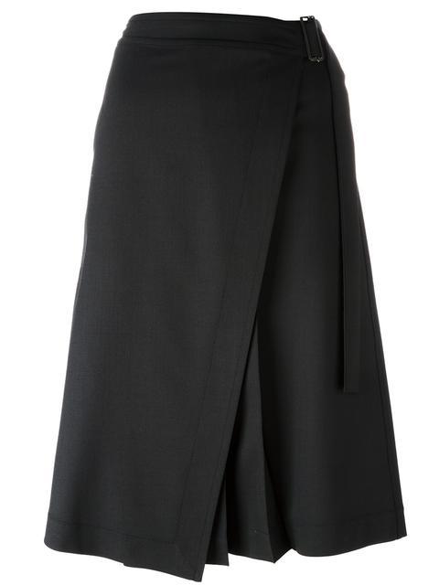 Jil Sander Wools midi wrap skirt