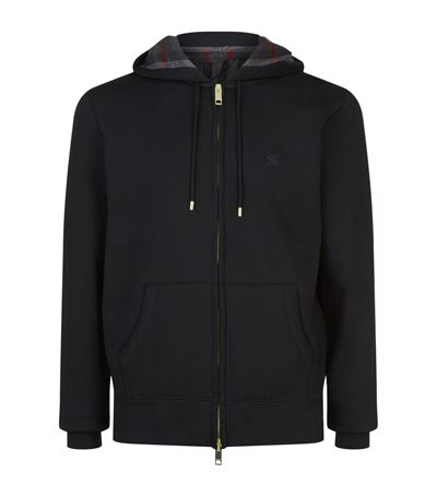 Burberry Cottons Check Lined Hoodie