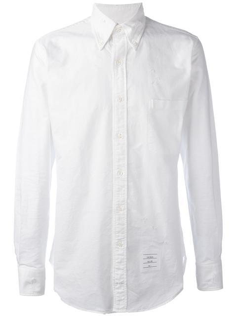 Thom Browne Downs distressed Oxford shirt