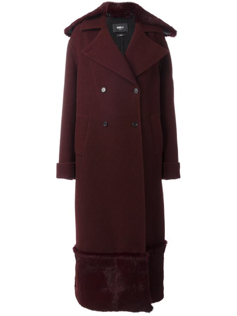 long fur detail overcoat