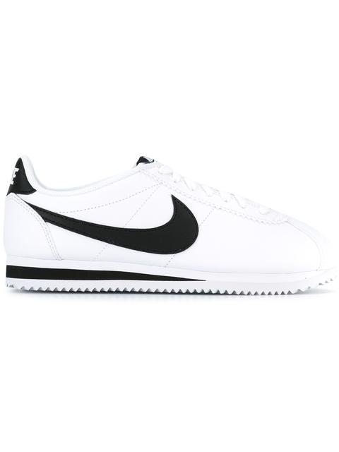 WOMEN'S CLASSIC CORTEZ LEATHER CASUAL SHOES, WHITE