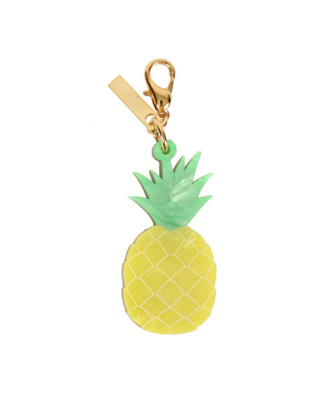 Edie Parker Keychains PINEAPPLE BAG CHARM, YELLOW