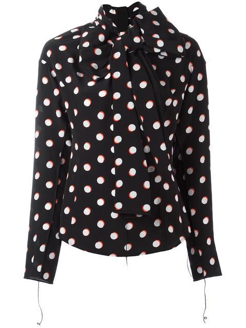 Marc Jacobs Silks polka dot print shirt