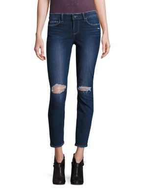 Paige Cottons Verdugo Distressed Skinny Ankle Jeans