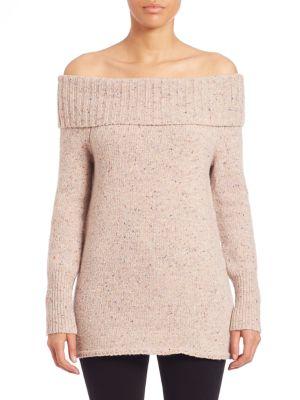 Rebecca Minkoff Wools Erid Off-the-Shoulder Merino Wool Blend Sweater