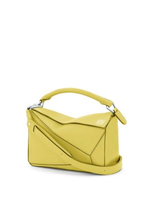 MEDIUM PUZZLE CALFSKIN LEATHER SHOULDER BAG - YELLOW