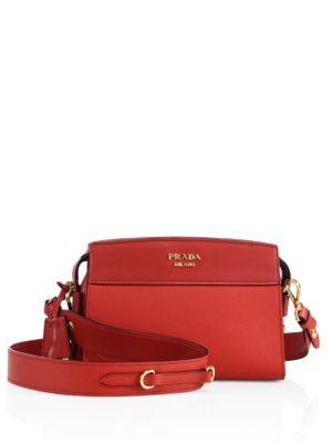 Prada Leathers Esplanade Leather Crossbody Bag