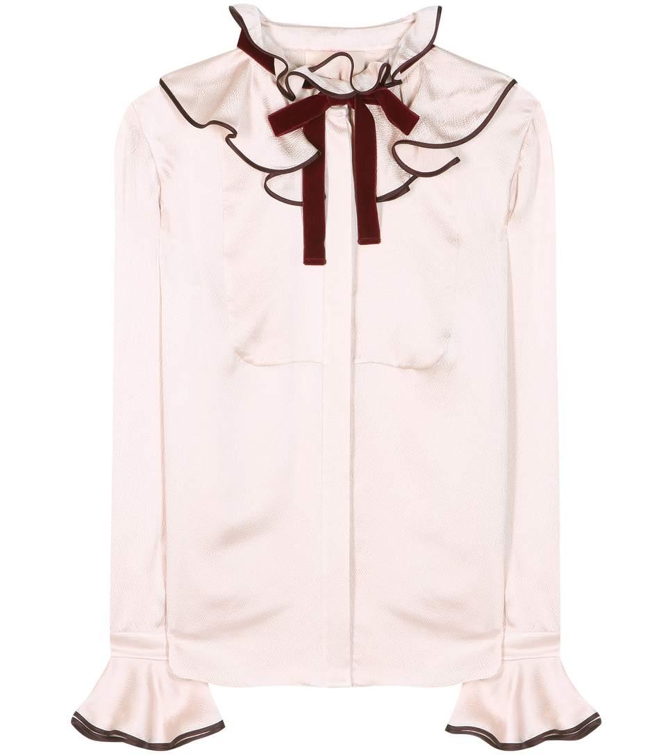 Roksanda Silks Seersucker silk-satin shirt