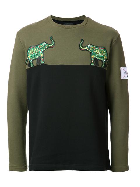 YOSHIO KUBO elephant patch sweatshirt