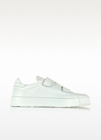 White Triple Velcro Sneakers