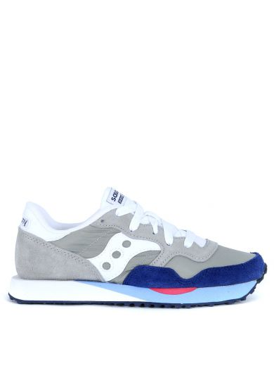 Saucony  Saucony Dxn Trainer Sneaker In Light Grey And Blue Navy Suede