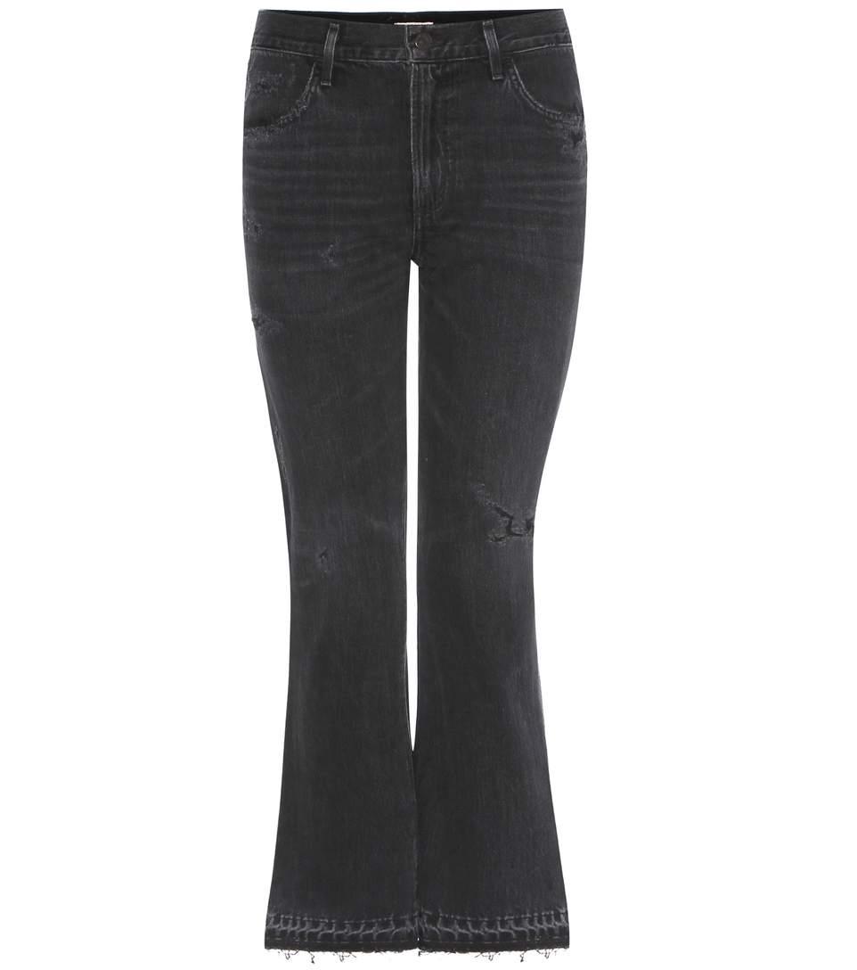 Sasha Twist Flare Crop cotton jeans
