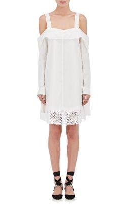 Proenza Schouler Cottons Poplin Off-The-Shoulder Dress