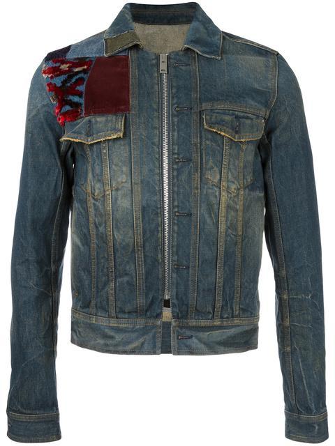 Maison Margiela Denims patch detail denim jacket