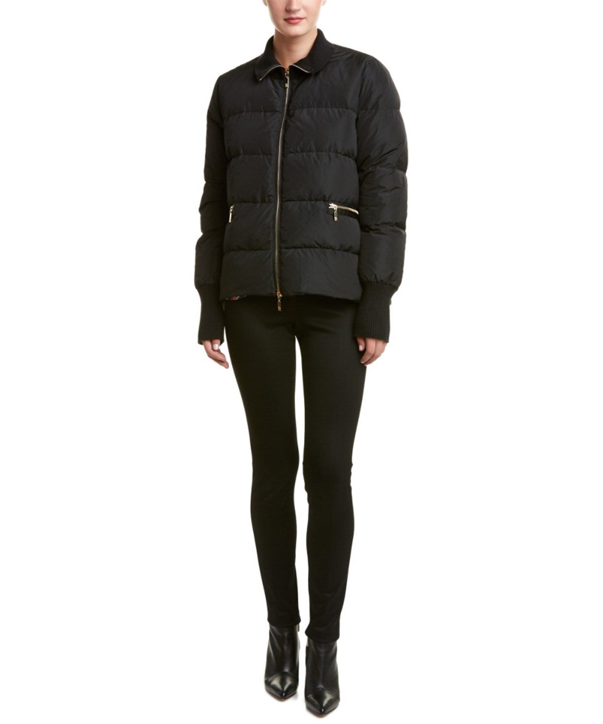 Moncler Zoey Reversible Floral Down Jacket