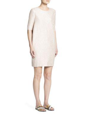 Lanvin Silks Elbow Length Sleeve Dress