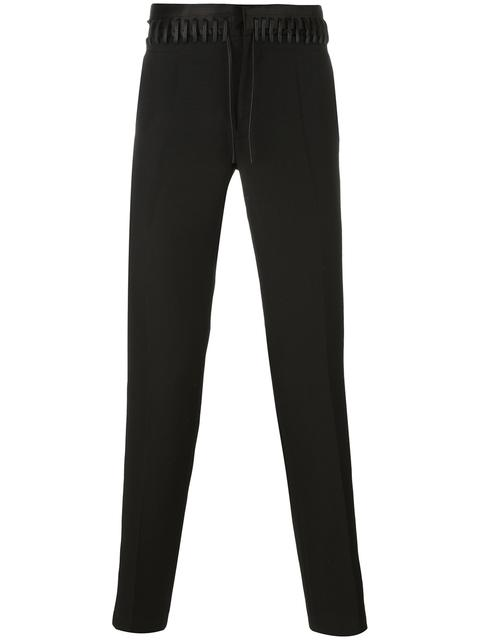 Haider Ackermann Cottons lace-up detail trousers