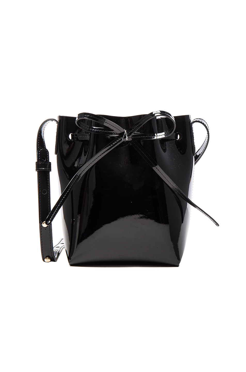 mansur gavriel mini mini patent leather bucket bag in. Black Bedroom Furniture Sets. Home Design Ideas