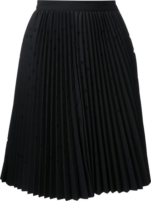 PLEATED DOT SKIRT