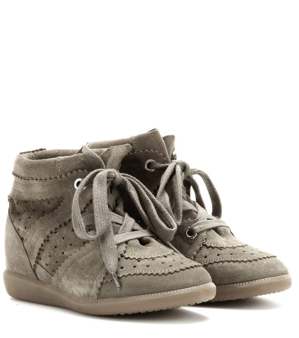 isabel marant etoile 80mm bobby suede wedge sneakers. Black Bedroom Furniture Sets. Home Design Ideas