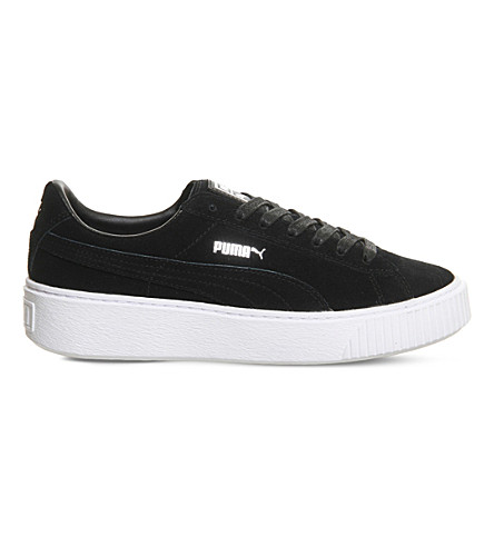 WOMEN'S SUEDE PLATFORM CASUAL SNEAKERS FROM FINISH LINE