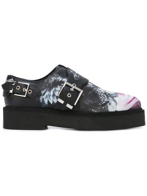 Alexander Mcqueen Leathers SURREAL PRINT MONK SHOES