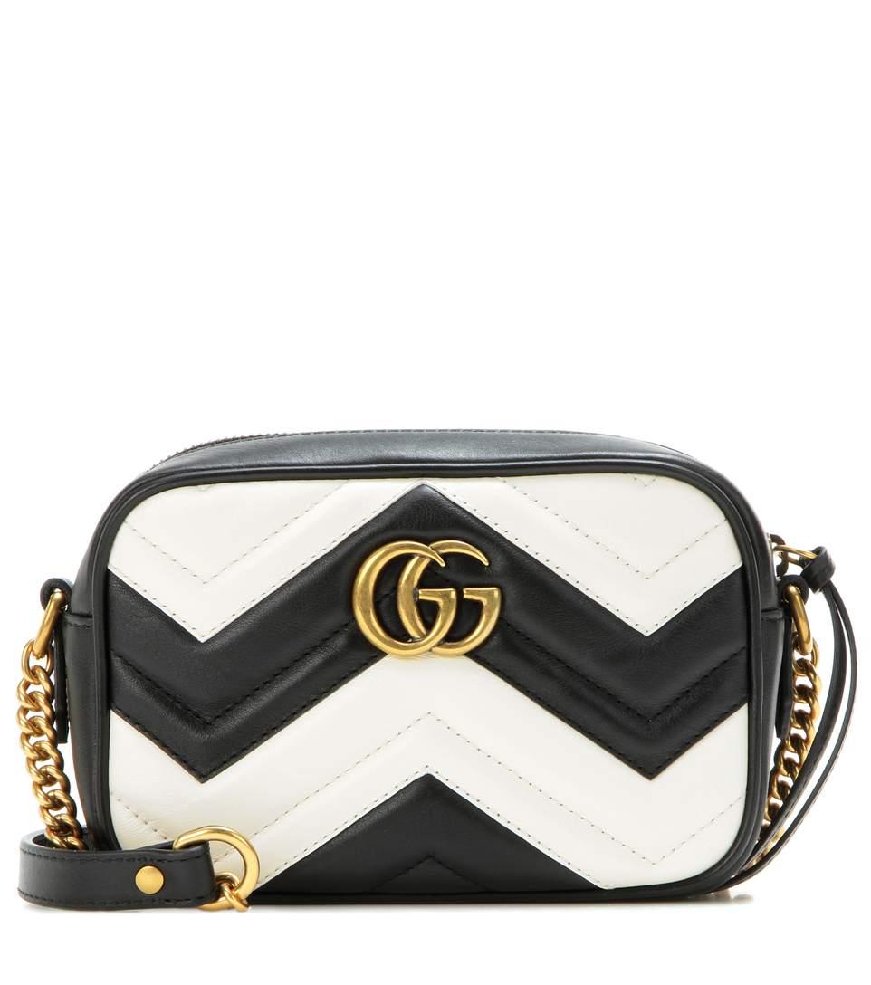 Gucci Leathers GG Marmont Mini matelassé leather crossbody bag
