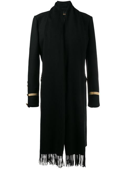 Wool Military Coat With Scarf Detailing