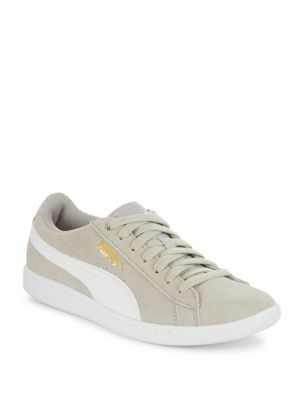 Puma Canvases Lace-Up Round Toe Sneakers