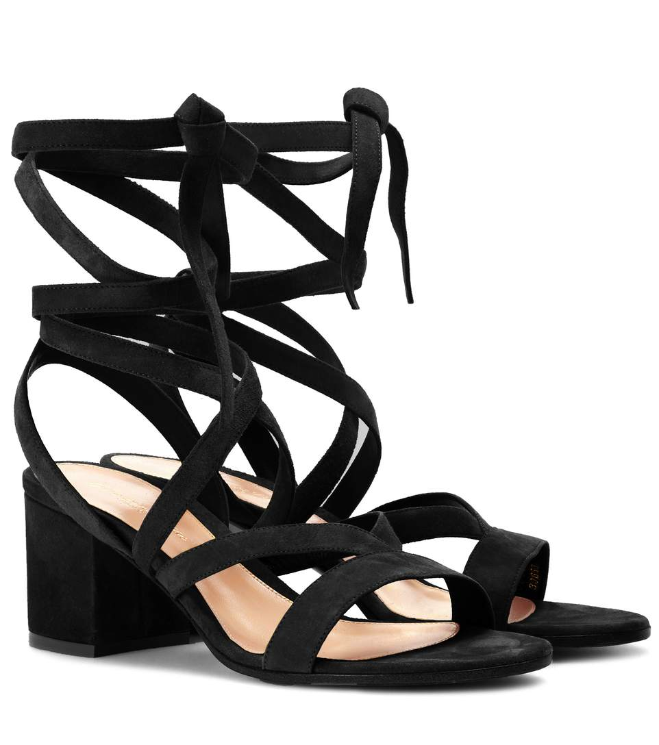 Gianvito Rossi Suedes Janis Low suede sandals
