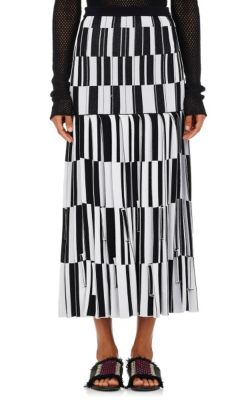 Proenza Schouler Pleated skirts Jacquard Knife-Pleated Long Skirt