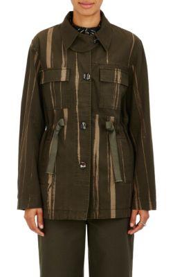 Proenza Schouler Cottons Striped Canvas Safari Jacket