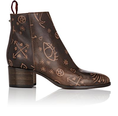 Valentino Leathers Santeria Leather Ankle Booties