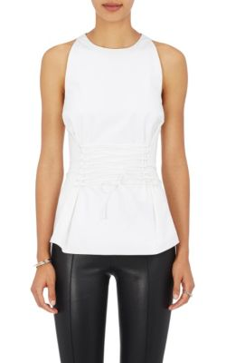 The Row Cottons Tallo Poplin Lace-Up Top