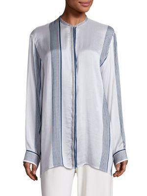 The Row Silks Stola Striped Silk Blouse