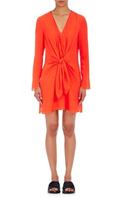 3.1 Phillip Lim Silks Knotted Silk Georgette Dress