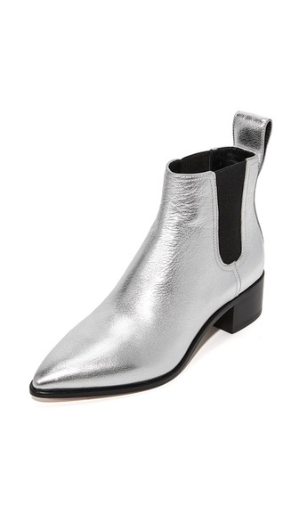 NELLIE METALLIC LEATHER CHELSEA BOOTS