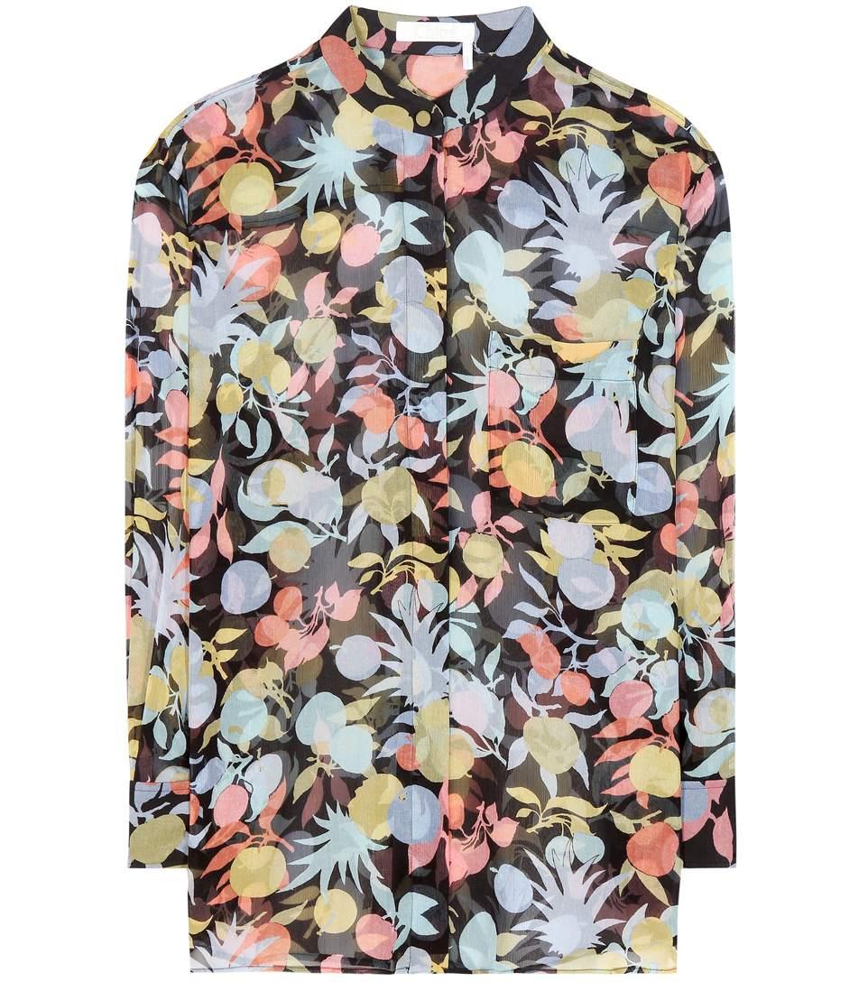 Chloé Silks Printed silk shirt