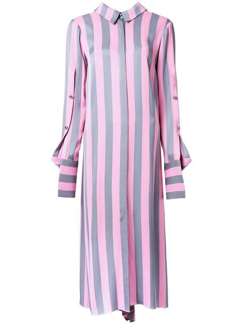 STRIPED SHIRT DRESS