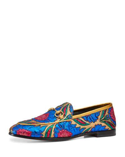 New Jordaan embroidered jacquard loafers