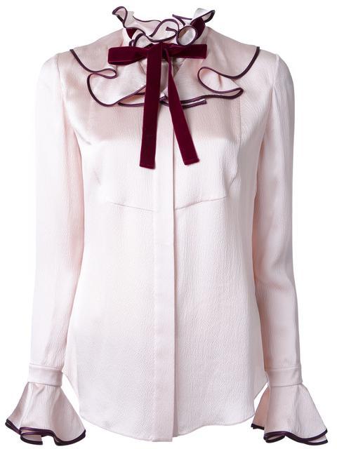Roksanda Silks ruffled neck shirt