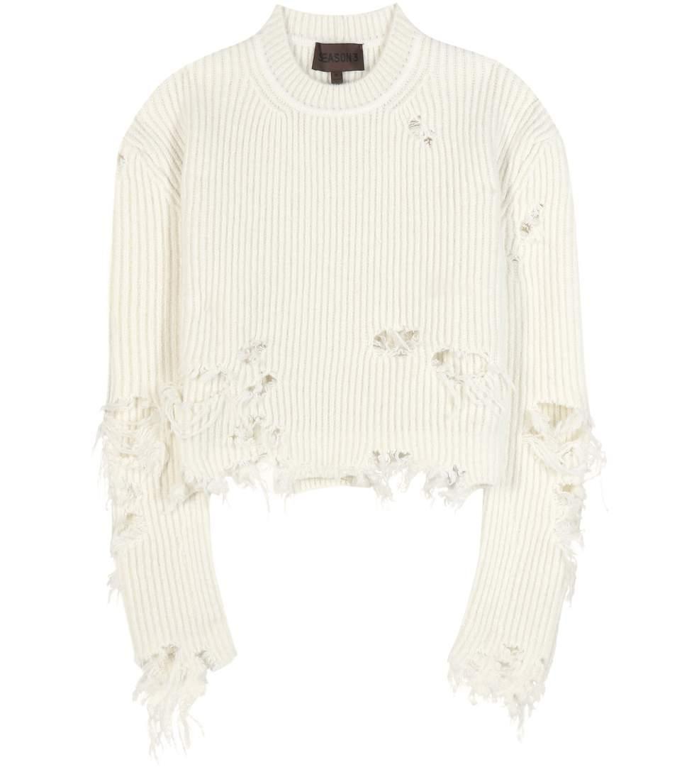 Distressed wool-blend sweater (SEASON 3)